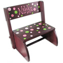 Personalized Retro Dot Flip Stool, Personalized Kids Step Stools | Step Stools for Toddlers | ABaby.com