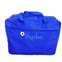 Personalized Blue Duffle Bag