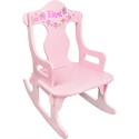 Pink Personalized Puzzle Rocker, Kids Rocking Chairs | Kids Rocker | Kids Chairs | ABaby.com