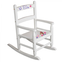 Personalized Pretty Pony Slat Rocker, Kids Chairs | Personalized Kids Chairs | Comfy | ABaby.com