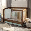 Highland 4 in 1 Convertible Crib, Spindle Baby Cribs | White | 4 in 1 | 3 in 1 | Wooden | aBaby.com