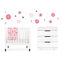 In Bloom 4-Piece Mini Crib Set, Portable Mini Crib Bedding Sets For Your Baby