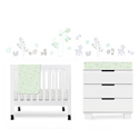Tranquil Woods Mini Crib Bedding Set, Gender Neutral Baby Crib Bedding Sets - aBaby.com
