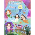 Mermaid Performance Stretched Art, Kids Wall Murals | Oversized Artwork | ABaby.com