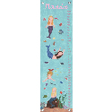 Mermaids Growth Chart, Tropical Sea Nursery Decor | Tropical Sea Wall Decals | ABaby.com