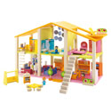 Large Furnished Mod Dollhouse, Doll Houses | Playsets | Kids Doll Houses | ABaby.com