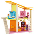 Small Furnished Mod Dollhouse , Doll Houses | Playsets | Kids Doll Houses | ABaby.com