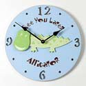 Alligator Clock, Kids Bedroom Decor | Clocks | Baby Picture Frames | ABaby.com