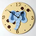 Elephant Clock, Noah''s Ark Nursery Decor | Noah''s Ark Wall Decals | ABaby.com
