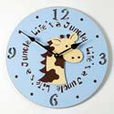 Giraffe Clock, Noah''s Ark Nursery Decor | Noah''s Ark Wall Decals | ABaby.com