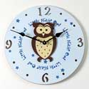 Owl Clock, African Safari Nursery Decor | African Safari Wall Decals | ABaby.com