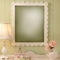 Scalloped Framed Mirror, Baby Nursery Mirrors | Decorative Mirror | ABaby.com