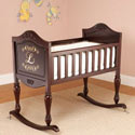 Monogrammed Grace Cradle, Wooden Bassinet | Antique Cradles | ABaby.com