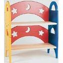 Moon and Stars Stacking Book Shelf,
