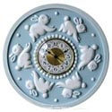 Bunnies Round Wall Clock, Bunnies Nursery Decor | Bunnies Wall Decals | ABaby.com