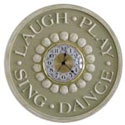 Laugh Play Sing Dance Wall Clock, Nursery Clocks | Kids Wall Clocks | ABaby.com
