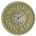 Sweet Dreams Wall Clock, Nursery Clocks | Kids Wall Clocks | ABaby.com