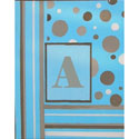 Blue and Mocha Canvas Wall Letters, Hand Painted Artwork | Hand-Painted Wall Art | ABaby.com