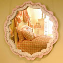Hand Painted Scalloped Mirror, Baby Nursery Mirrors | Decorative Mirror | ABaby.com