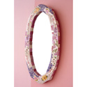 Felicity Mosaic Mirror, Kids Wall Mirrors | Framed | Round | ABaby.com