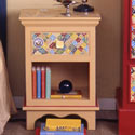 Global Mosaic Nightstand, Kids Night Tables | Toddler Night Stand | ABaby.com