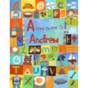 My Name Is... Boy Stretched Art, ABC Artwork | ABC Alphabets Wall Art | ABaby.com
