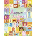 My Name is Girl Stretched Art, Nursery Wall Art | Nursery Theme Wall Art | ABaby.com