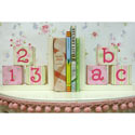 ABC & 123 Wooden Bookends, ABC Nursery Decor | ABC Alphabets Wall Decals | ABaby.com