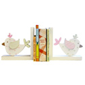 Birdies Wooden Bookends, Baby Bookends | Childrens Bookends | Bookends For Kids | ABaby.com
