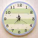 Striped Wall Clock, Kids Bedroom Decor | Clocks | Baby Picture Frames | ABaby.com