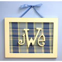 Rectangular Monogram Plaque, Wall Plaque | Kids | Nursery | ABaby.com