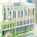 Boardwalk 3 Piece Crib Bedding Set, Boys Crib Bedding Sets - Crib Sets for Boys with Sheets & Bumpers