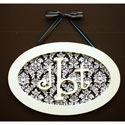 Oval Monogram Plaque,