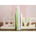 LOVE Wooden Bookends, Baby Bookends | Childrens Bookends | Bookends For Kids | ABaby.com