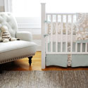 Picket Fence 3 Piece Crib Bedding, Boys Crib Bedding Sets - Crib Sets for Boys with Sheets & Bumpers