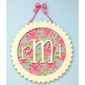 Round Scalloped Monogram Plaque,