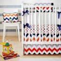 Personalized Zig Zag Baby Crib Bedding in Rugby, Baby Crib Bedding Sets | Bedding Sets for Boys & Girls | aBaby.com
