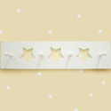 White Star Peg Board, Moon and Stars Themed Nursery | Cribs | Baby Bedding | Wall Decals