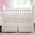 White Pique 3 Piece Crib Bedding with Trim, Baby Girl Crib Bedding | Girl Crib Bedding Sets | ABaby.com