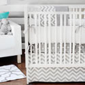Chevron in Slate 3 Piece Crib Bedding Set, Baby Girl Crib Bedding | Girl Crib Bedding Sets | ABaby.com