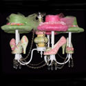Nava's Shoes Chandelier, Tea Party Nursery Decor | Tea Party Wall Decals | ABaby.com