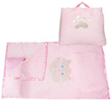 Pink Kitty Nap Bag , Personalized Kids Sleeping Bags | Girls | Boys