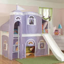 Princess Juliette Loft Bed, Childrens Loft Beds | Girls Loft Bed With Desk | ABaby.com