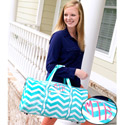Personalized Chevron Duffle Bag,