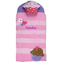 Personalized Cupcake Sleeping Bag, Personalized Kids Sleeping Bags | Girls | Boys
