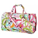 Personalized Floral Design Duffle Bag,