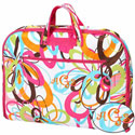 Personalized Floral Design Garment Bag,