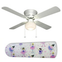 Little Girls Ballerinas Ceiling Fan, Prima ballerina Themed Nursery | Girls ballerina Bedding | ABaby.com