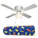 Rocket Race Outer Space Ceiling Fan, Airplane Themed Nursery | Airplane Bedding | ABaby.com