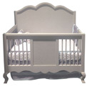 Hilary Conversion Crib, Designer Baby Cribs | Canopy | Rustic Nursery Crib Set  | aBaby.com